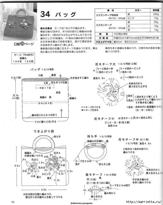 Корзинка и сумки крючком из полиэтиленовых пакетов (69) (557x700, 229Kb)