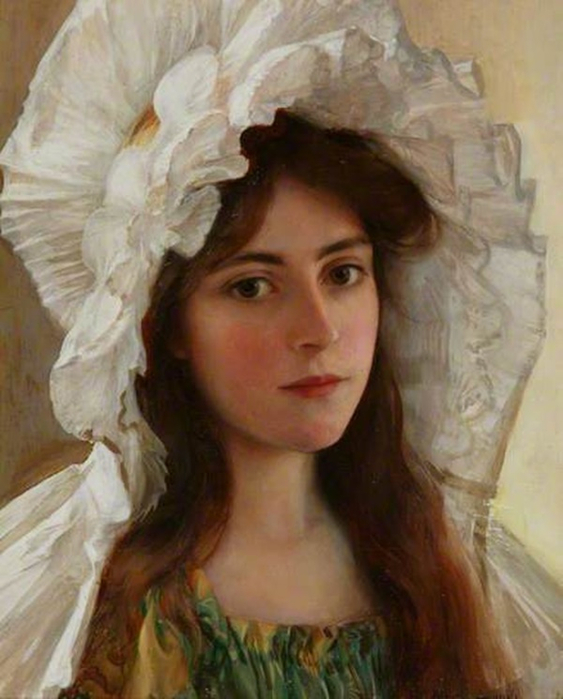 Albert Lynch · Head of a Girl (563x700, 323Kb)