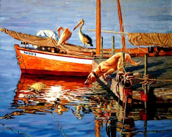 """Daniel Wall - American Intense Impressionism painter - Tutt""""Art@ - (14) (600x477, 172Kb)"""