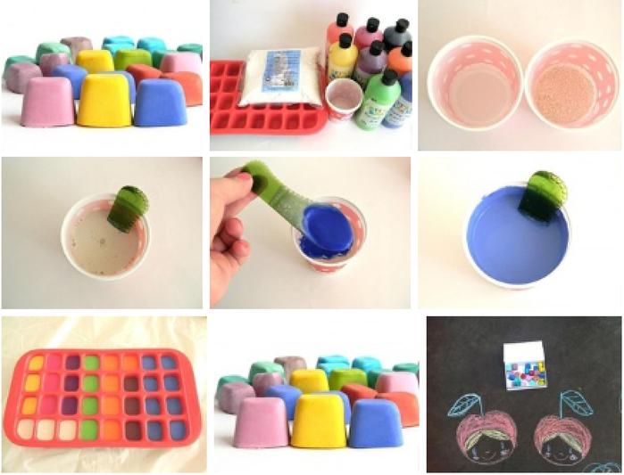 Как сделать домашние цветные мелки