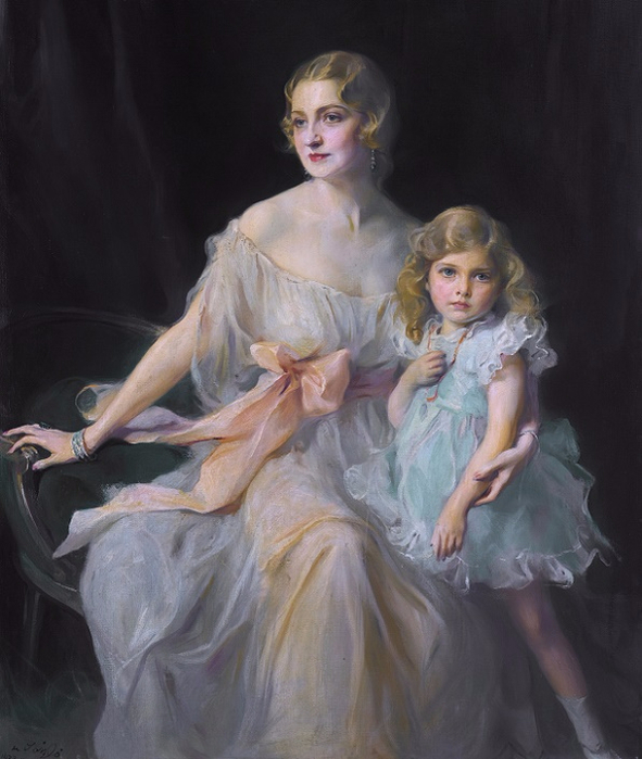 1933_Портрет миссис Клод Ли и мисс Вирджинии Ли (Portrait of Mrs. Claude Leigh and Miss Virginia Leigh) (591x700, 328Kb)