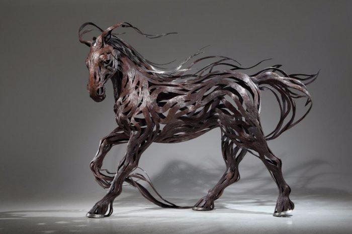 проволочные скульптуры Сен Хун Кан 1 (700x466, 157Kb)