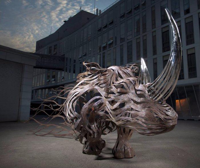 проволочные скульптуры Сен Хун Кан 11 (700x590, 293Kb)