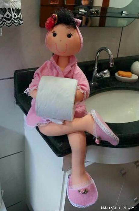 Текстильные куклы - держатели туалетной бумаги. Выкройки (6) (462x700, 168Kb)