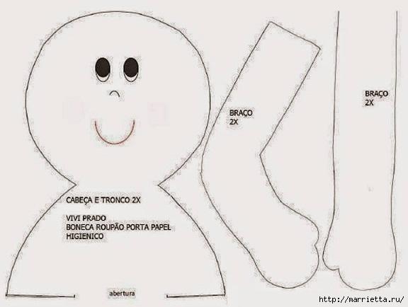 marionetas textiles - portarrollos de papel higiénico.  Patrones (18) (576x434, 88Kb)