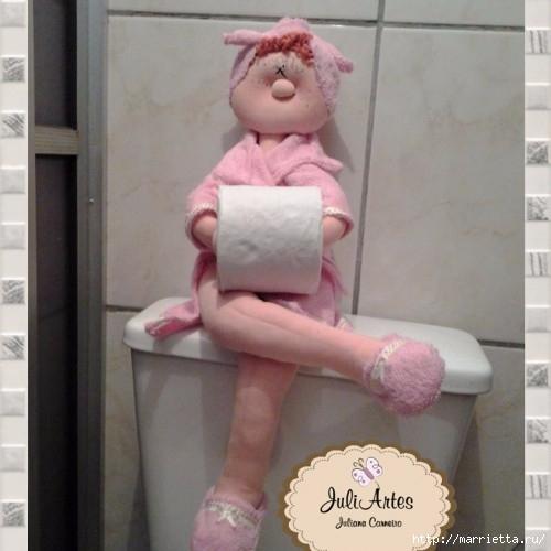 Текстильные куклы - держатели туалетной бумаги. Выкройки (20) (500x500, 114Kb)