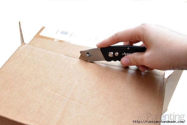 Органайзер из коробки - декорирование шпагатом (3) (600x401, 81Kb)