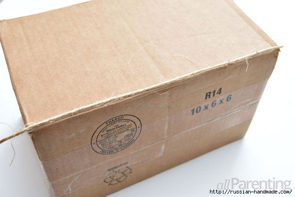Органайзер из коробки - декорирование шпагатом (4) (600x401, 94Kb)