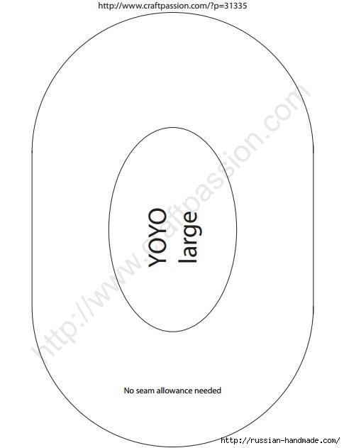 Шьем собачку из цветочков йо-йо. Мастер-класс и выкройка (2) (485x631, 54Kb)