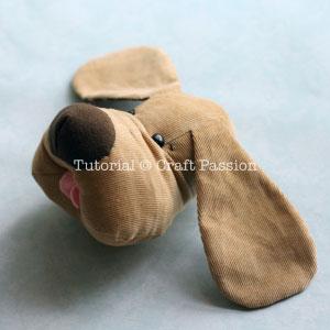 Шьем собачку из цветочков йо-йо. Мастер-класс и выкройка (17) (300x300, 48Kb)