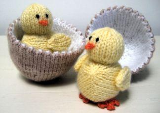 Игрушки спицами. Желтые цыплятки в яйце (2) (324x230, 55Kb)