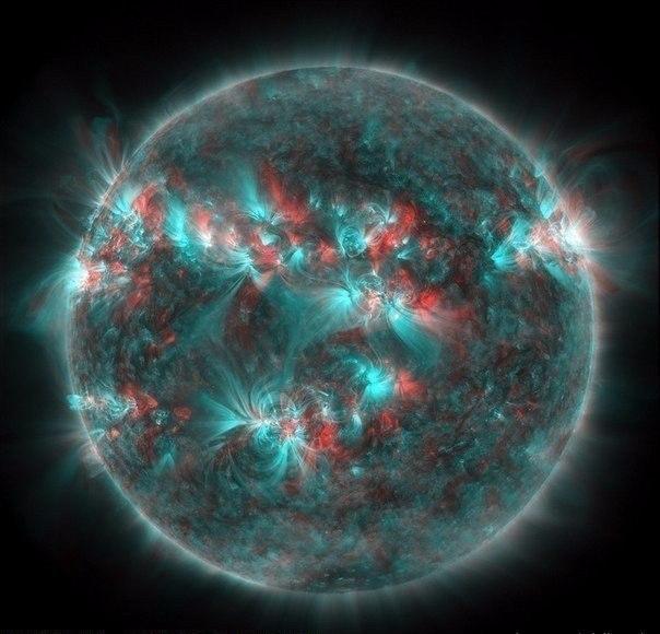 3D Изображение Солнца. Советую найти 3D очки (604x580, 261Kb)