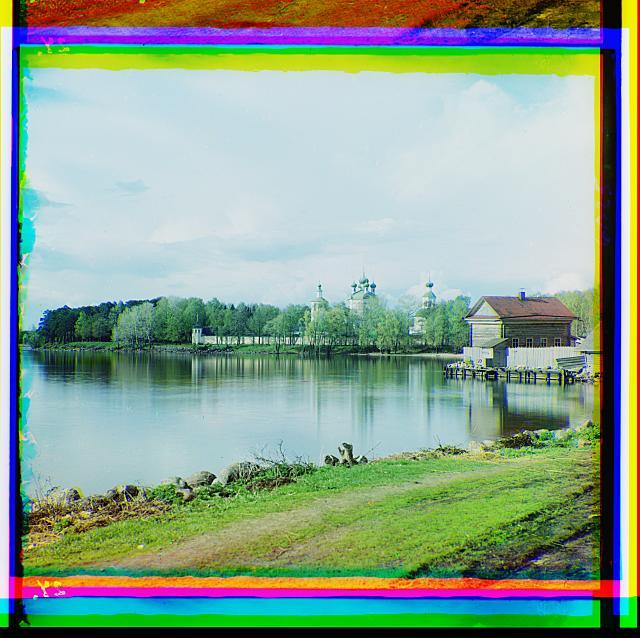9. Вид Житенного монастыря для мужчин. Осташков (640x638, 376Kb)