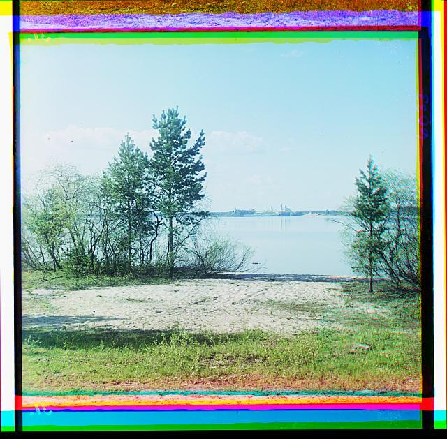 16. Вид с острова Городомля на монастырь преподобного Нила Столбенского, оз. Селигер (640x629, 436Kb)