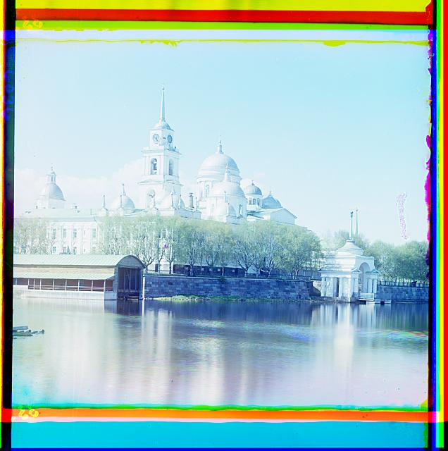 17. Вид на монастырь преп. Нила Столбенского с востока (636x640, 290Kb)