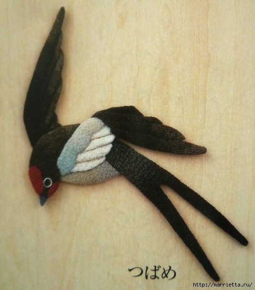 Аппликация. Птицы. Идеи для вдохновения (5) (517x588, 145Kb)