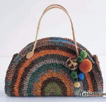 Схема вязания крючком овального коврика и сумочки (4) (442x425, 160Kb)
