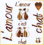 Превью 00 Bleu de Soie BL225 L'amour c'est Chat (689x700, 437Kb)