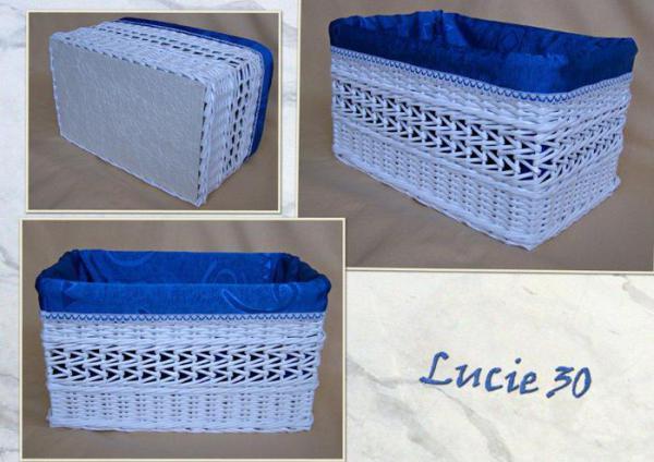 Корзинка для белья — плетение из газет1 (600x424, 190Kb)