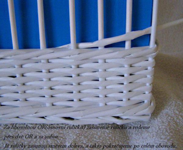 Корзинка для белья — плетение из газет3 (600x492, 221Kb)