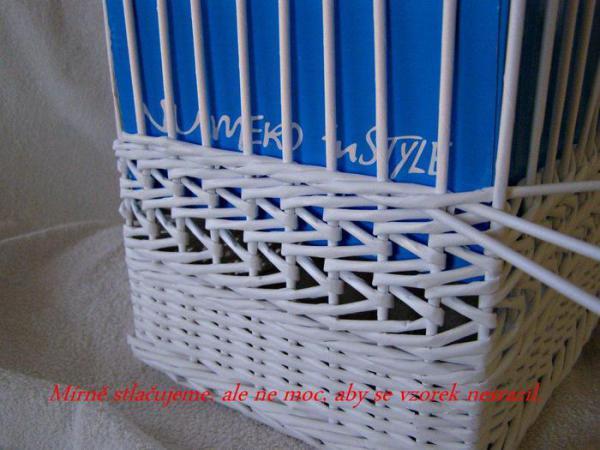 Корзинка для белья — плетение из газет13 (600x450, 217Kb)