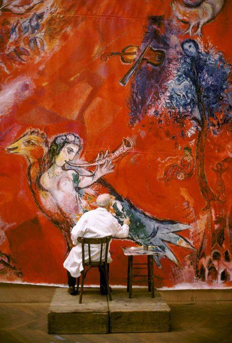 Marc Chagall in action. (458x676, 334Kb)