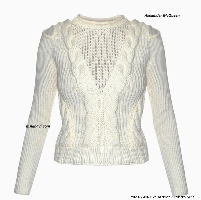 вязаный-модный-пуловер-спицами (700x699, 240Kb)