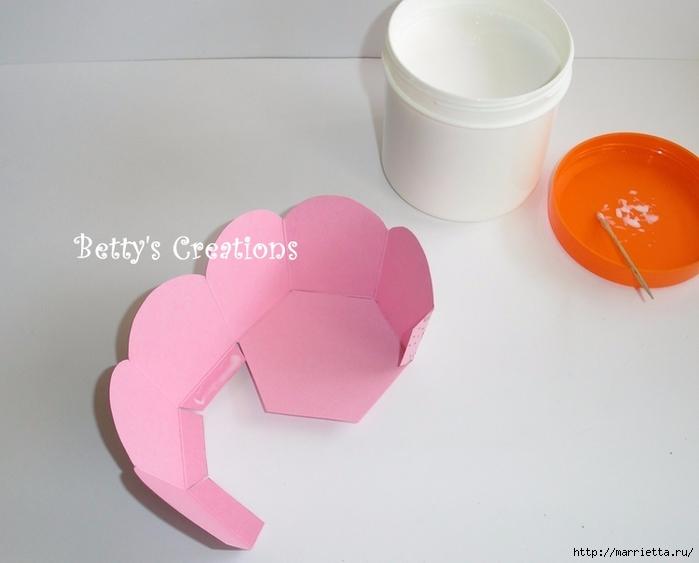 Коробочка для подарков из бумаги своими руками