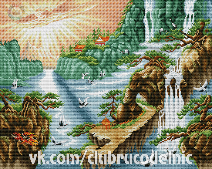 Chinese waterfall (700x557, 768Kb)