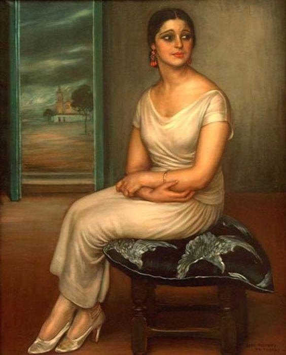 Conchita Triana de Julio Romero de Torres. 1924 (564x700, 45Kb)