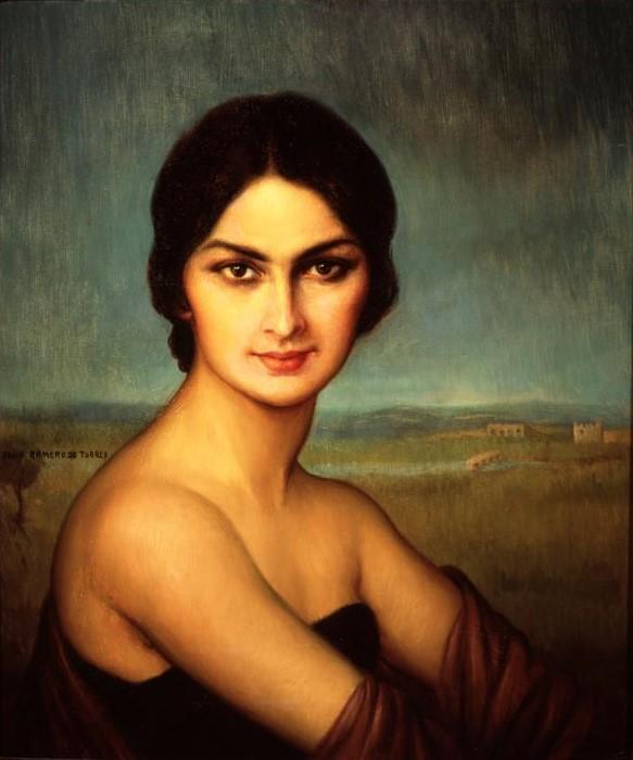 Retrato de una dama. 1925 (583x700, 113Kb)