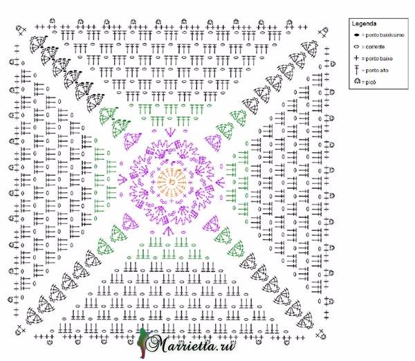 Подушки крючком с центральным цветочным мотивом (2) (600x522, 299Kb)