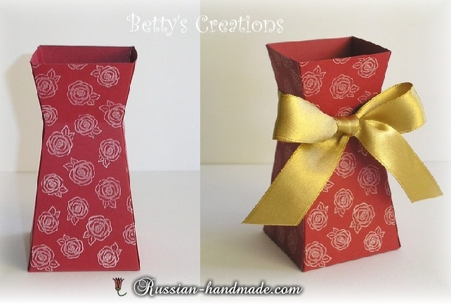 Бумажная вазочка для цветов своими руками. Шаблон (3) (642x433, 214Kb)