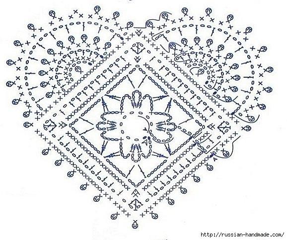 Схемы вязания сердечек - валентинок крючком (24) (578x482, 215Kb)