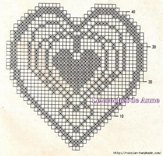 Схемы вязания сердечек - валентинок крючком (28) (571x546, 286Kb)