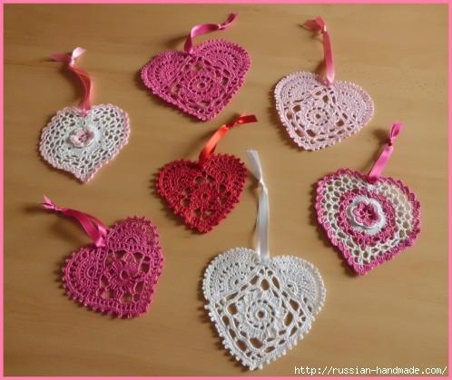 Схемы вязания сердечек - валентинок крючком (38) (498x419, 135Kb)