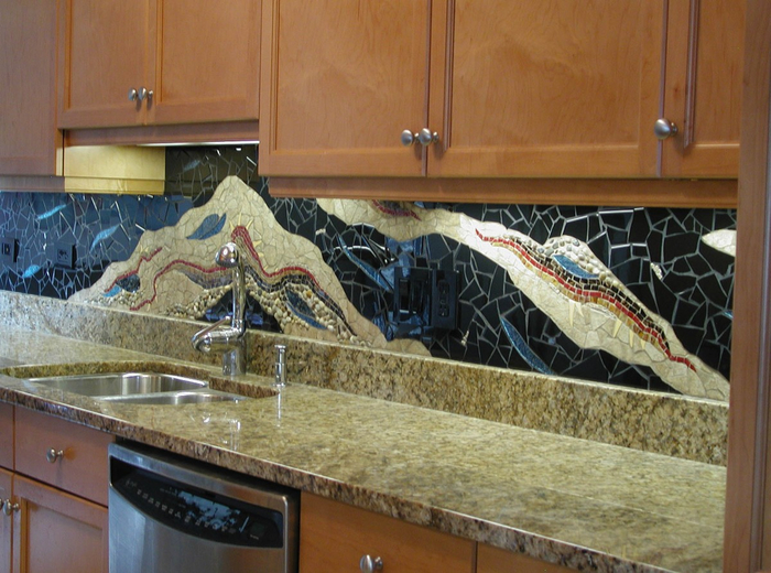 Stone Backsplash Tiles  Amazoncom