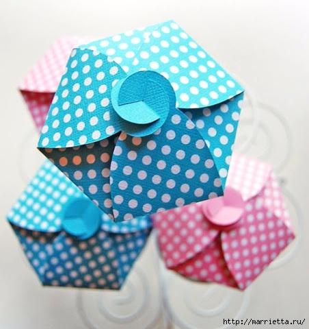 Бумажная корзинка для кексов своими руками (4) (452x480, 131Kb)
