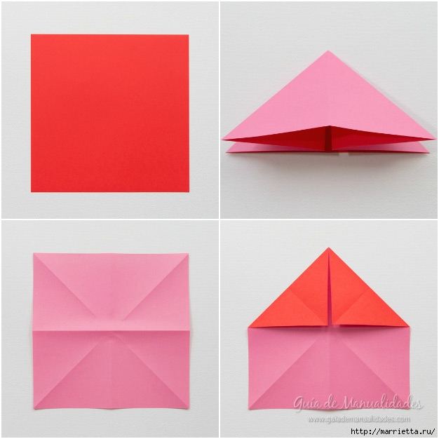 Крылатые валентинки в технике оригами из бумаги (3) (626x626, 147Kb)