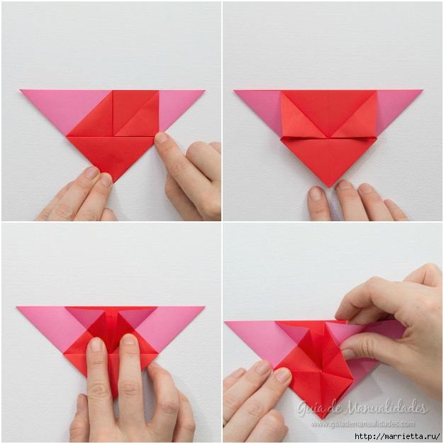 Крылатые валентинки в технике оригами из бумаги (5) (626x626, 186Kb)