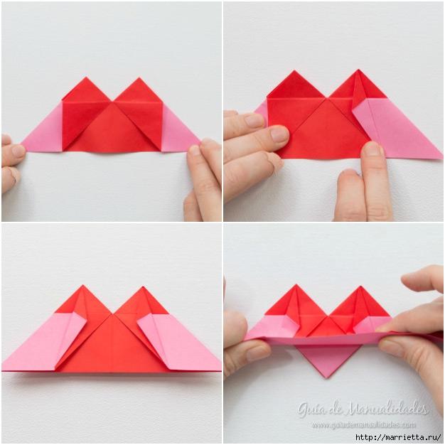 Крылатые валентинки в технике оригами из бумаги (7) (626x626, 173Kb)