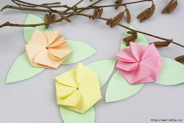 Творчество с детьми. Цветочки в технике оригами (12) (700x466, 163Kb)