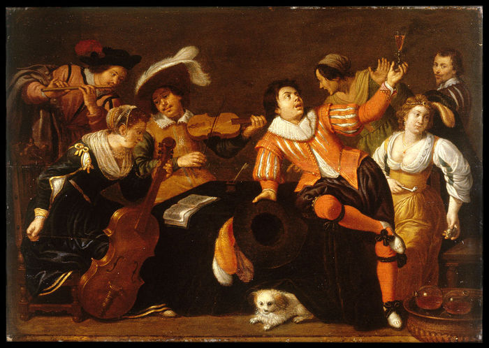 4000579_1024pxWorkshop_of_Jan_van_Bijlert__Merry_Company__Walters_37707 (700x498, 91Kb)