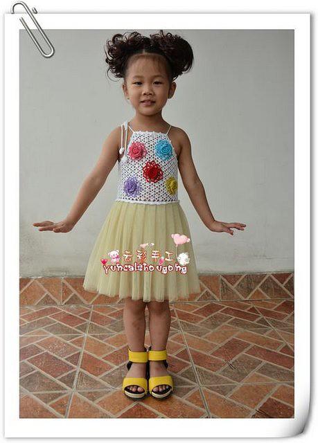 Вязаные платья для девочек на 13