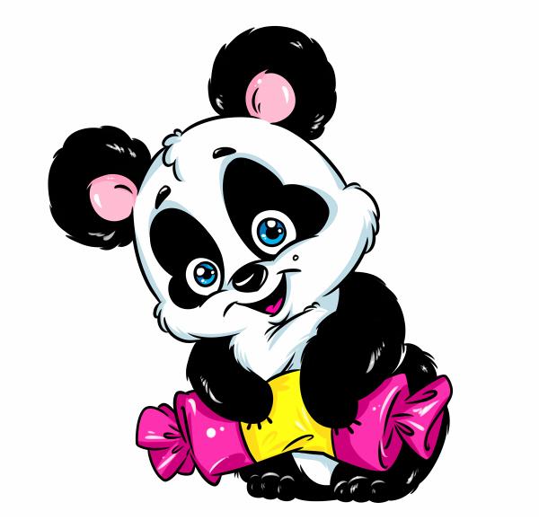 Панда с конфеткой (600x579, 153Kb)