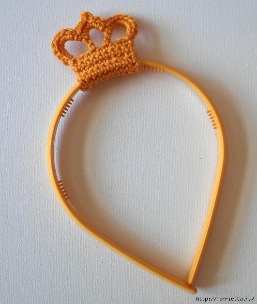 Корона крючком. Вязаное украшение (19) (531x626, 224Kb)