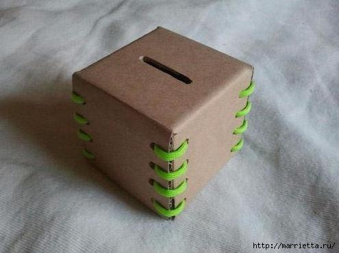 Коробочка-копилка из картона своими руками (1) (495x370, 100Kb)