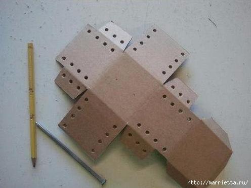 Как сделать копилку из картона