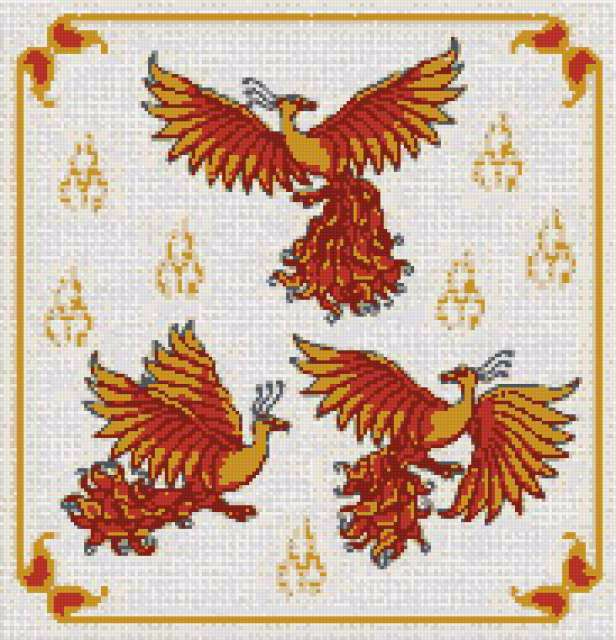 Вышивка крестом жар птица