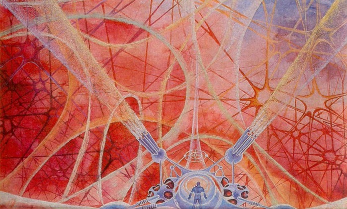 "Alexandr Klimov ""THE GALACTIC CENTRE"" paperwater colour. 1974"